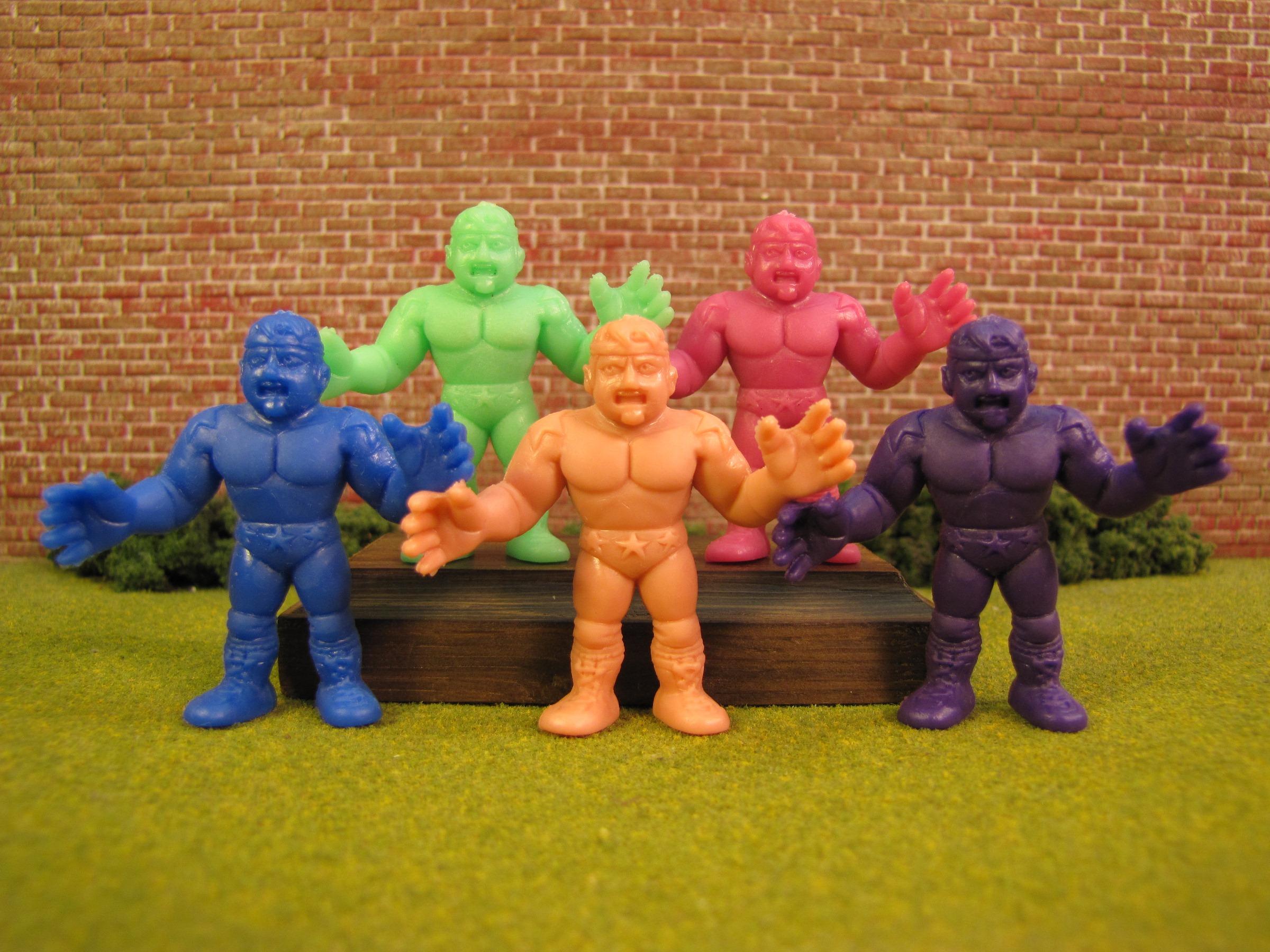 """80/'s M.U.S.C.L.E Men Kinnikuman Flesh Color 2/"""" Kinnikuman I Figure #206 Mattel"""