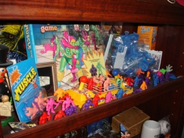 Shelf of M.U.S.C.L.E. Items