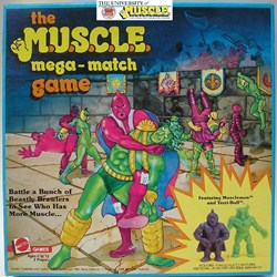boardgame History 200   The M.U.S.C.L.E. Wrestling Ring, Wrestling Belt, Board Game, and Video Game