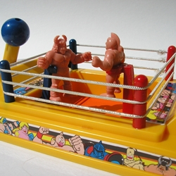 ring History 200   The M.U.S.C.L.E. Wrestling Ring, Wrestling Belt, Board Game, and Video Game