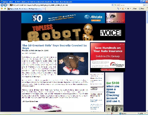 ToplessRobot.com Screen Shot