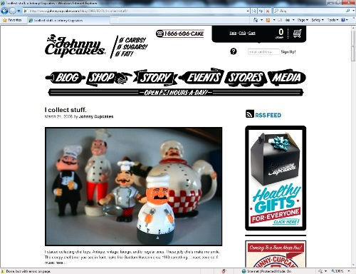 Johnnycupcakes.com's 'I Collect Stuff' Blog Entry